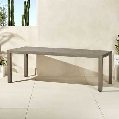 matera large grey outdoor dining table - CB2