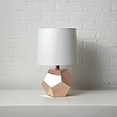 Geometric Rose Gold Lamp - Crate and Barrel