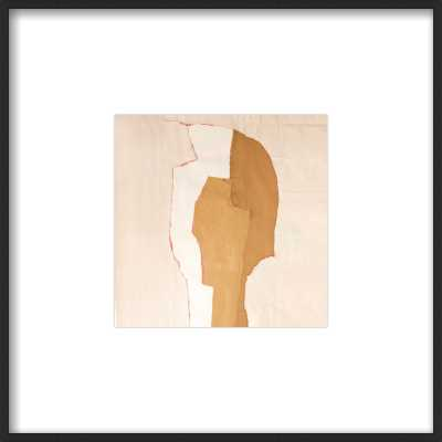 Abstract Head by Boriana Mihailovska - 12x12 - Matte Black Metal frame, with matte - Artfully Walls