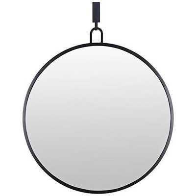 "Varaluz Casa Eli Black 32"" x 30"" Round Stopwatch Wall Mirror - Lamps Plus"