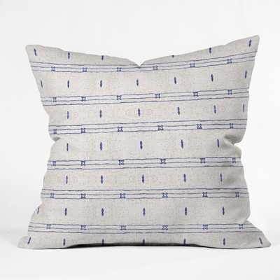 "French Linen Stripe Indoor pillow 16"" - Wander Print Co."