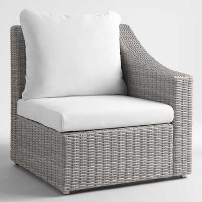 Gray All Weather Veracruz Outdoor Patio Sectional Left Armchair - Resin by World Market - World Market/Cost Plus