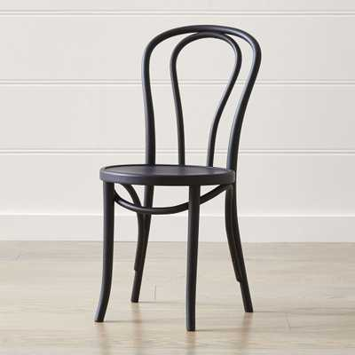 Vienna Matte Black Dining Chair - Crate and Barrel