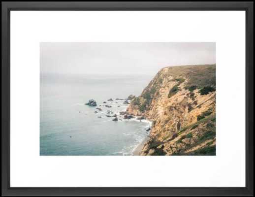 NORTHERN CALIFORNIA COAST FRAMED ART PRINT VECTOR - Society6