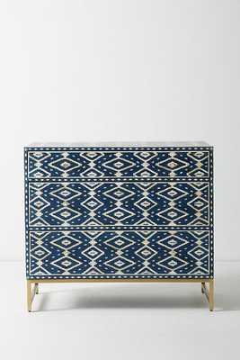 Ikat Inlay Three-Drawer Dresser - Anthropologie