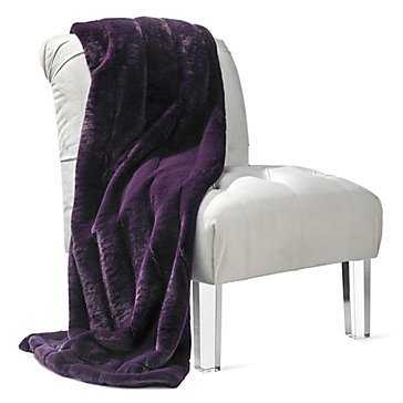 Channel Throw - purple - Z Gallerie
