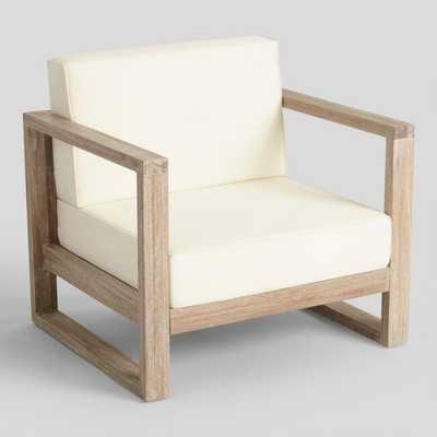 Whitewash Sevilla Outdoor Occasional Armchair - World Market/Cost Plus
