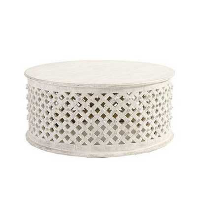 Bornova Coffee Table - Antique White - Ballard Designs