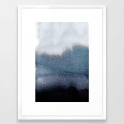 In Blue - FRAMED ART PRINT VECTOR WHITE MEDIUM 20 x 26 - Society6