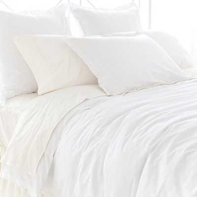 Classic Ruffle White Sham - Standard - Pine Cone Hill