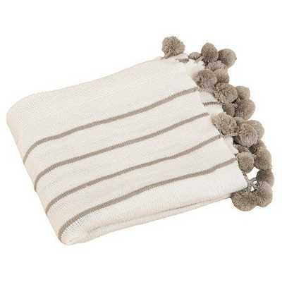 Pompon Design Throw - Ivory - Target