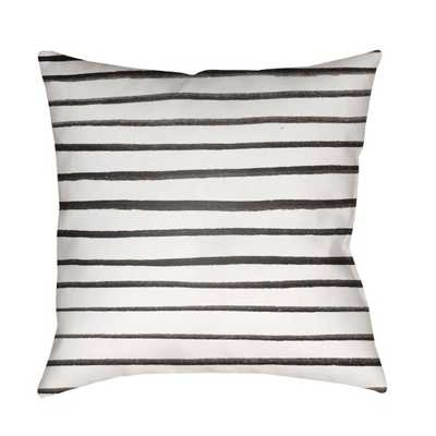 Surya Pin Striped Outdoor Pillow - 20x20 - Hayneedle