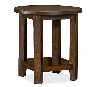 Benchwright Side Table, Rustic Mahogany stain - Pottery Barn