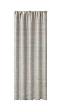 "Silvana Grey Silk Blackout Curtain Panel 50""x108"" - Crate and Barrel"