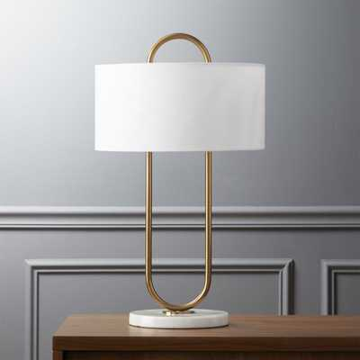 Warner table lamp RESTOCK IN EARLY MAY,2021. - CB2