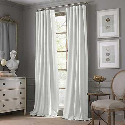 Valeron Estate Cotton Linen 120-Inch Window Curtain Panel in White - Bed Bath & Beyond