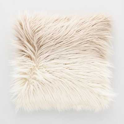 Mocha Ombre Mongolian Faux Fur Throw Pillow - World Market/Cost Plus