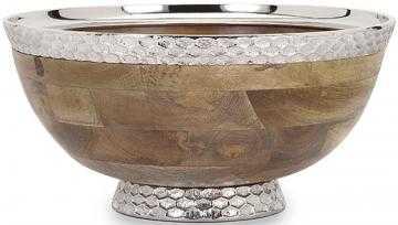 Mango Wood Pedestal Bowl - Mercer Collection
