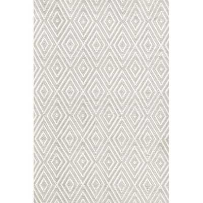 DIAMOND PLATINUM/WHITE INDOOR/OUTDOOR RUG, 10' x 14' - Dash and Albert