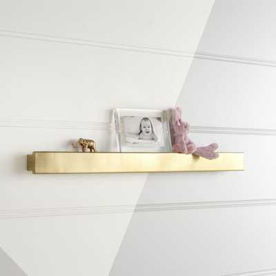 Metallic Gold Wall Shelf - Crate and Barrel