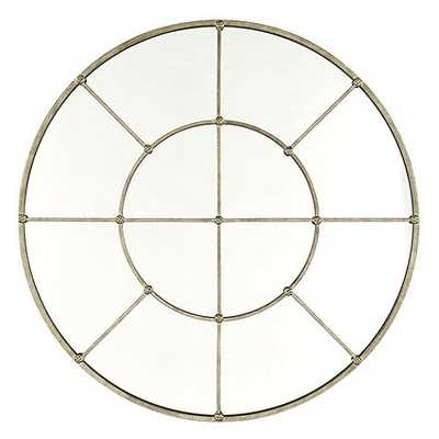 "Grand Palais Round Mirror - 48"" - Antique Silver - Ballard Designs"