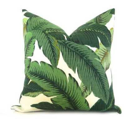 Palm Leaf Pillow Cover - No insert - Willa Skye