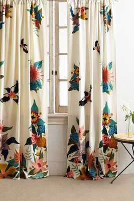 "Soaring Starlings Curtain - 96"" - Anthropologie"