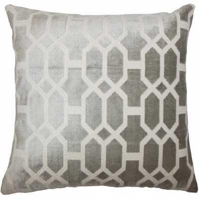 Laine Geometric Pillow Grey - Polyester insert - Amazon