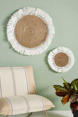 Fringed Basket Wall Art - Large - Anthropologie