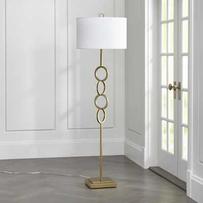 Axiom Brass Floor Lamp - Crate and Barrel