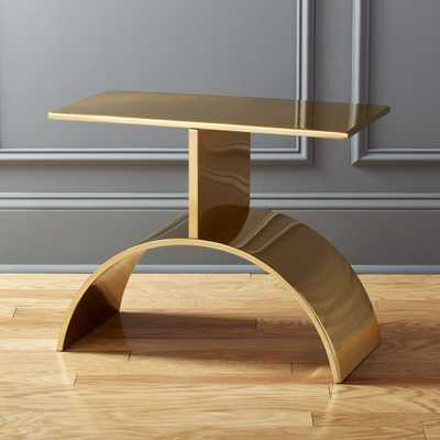 Curve Gold Side Table - CB2
