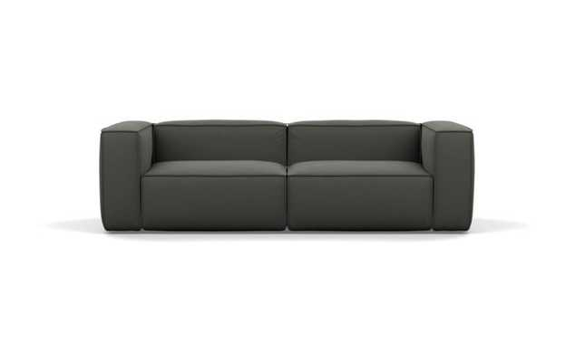 Gray Sofa in Charcoal Fabric - left high, right high - Interior Define