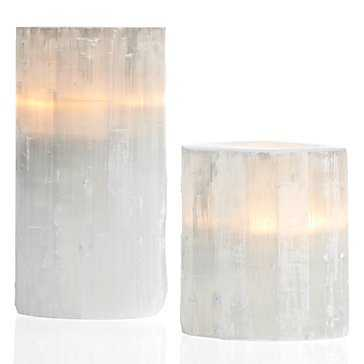 "Selenite Votive  - 6.25""H - Z Gallerie"
