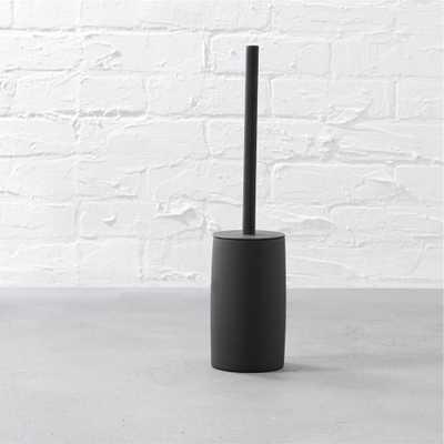 rubber coated black toilet brush - CB2