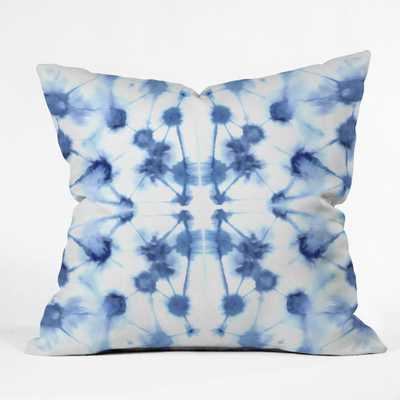 "Mirrord Dye Blue Throw Pillow - 16""x16""  -With Insert - Wander Print Co."