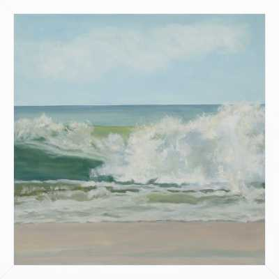 Wave Tumble - 16x16 - White wood frame no matte - Artfully Walls