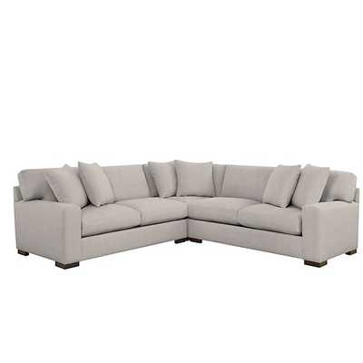 Del Mar Corner Sectional - 3 PC [Fabric : Jessica Linen - Z Gallerie