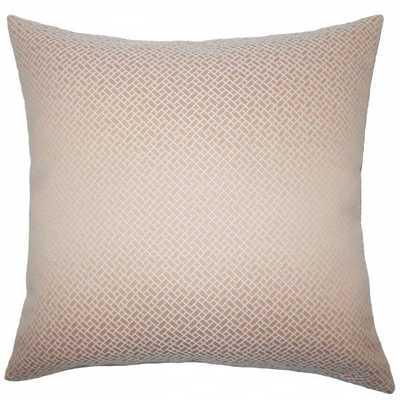 "Pertessa Geometric Pillow Blush - 18"" x 18"" - Down Insert - Linen & Seam"