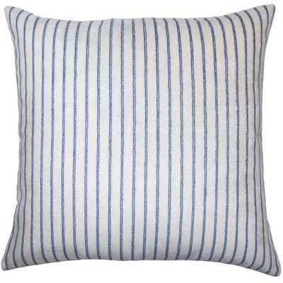 """Maaike Striped Pillow Blue - 20"""" x 20"""" - Poly Insert - Linen & Seam"""