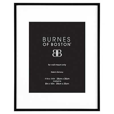 Burnes of Boston 8-Inch x 10-Inch Metal Matted Picture Frame in Black - Bed Bath & Beyond