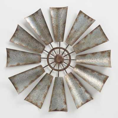 Metal Windmill Wall Decor: Gray/Silver by World Market - World Market/Cost Plus
