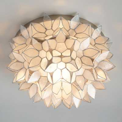 Capiz Petal Flush Mount Ceiling Light - Capiz Shell by World Market - World Market/Cost Plus