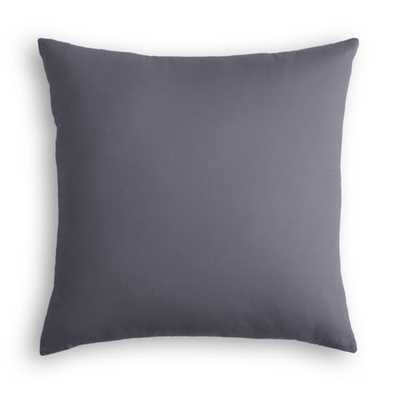 "Sunbrella® Canvas throw pillow - Charcoal -  20"" x 20"" with down insert - Loom Decor"