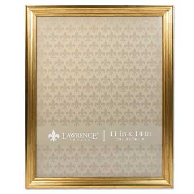 "Lawrence Frames Sutter Burnished Gold Picture Frame - 11"" x 14"" - Hayneedle"