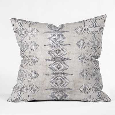 "FRENCH LINEN ERIS Throw Pillow - 18"" x 18"" - Pillow Cover with insert - Wander Print Co."