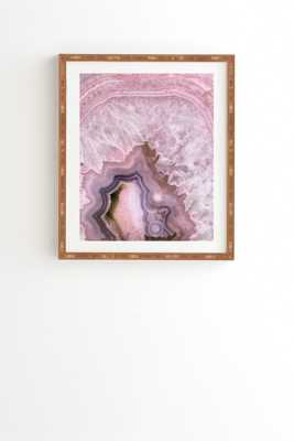 PALE PINK AGATE-Basic Gold frame - Wander Print Co.