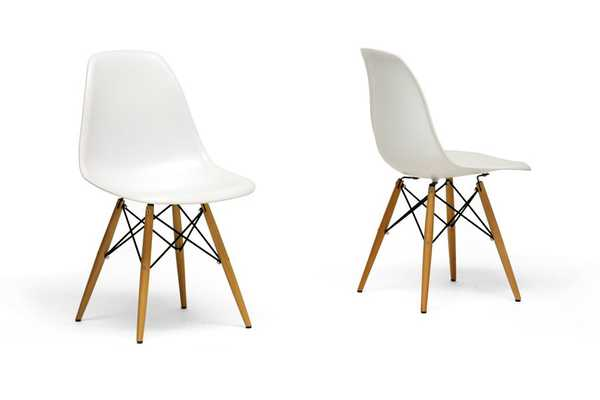 Azzo White Plastic Dining Chairs (Set of 2) - Lark Interiors