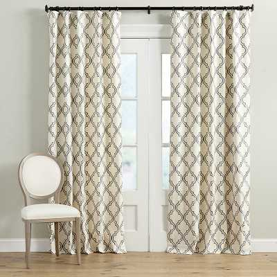 "Ballard Designs Rosselli Embroidered Drapery Panel Mineral 108"" - Ballard Designs"