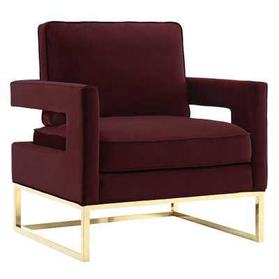 Zoie Chair,  Maroon - Studio Marcette