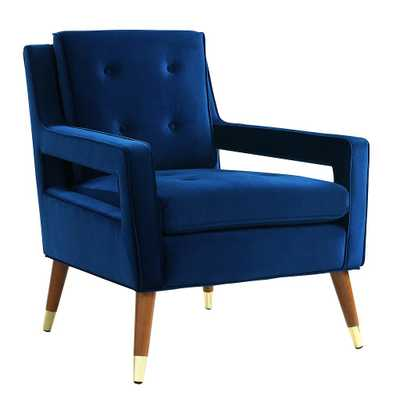 Davis Navy Velvet Chair - Maren Home